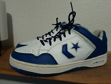 VTG Vintage Converse WEAPON Sneakers Lowtop Blue White Mens 9.5 Leather Worn