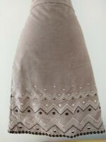 LAURA ASHLEY SUEDE FEEL SKIRT WITH APPLIQUÉ DETAILING SIZE 12. WORK/ INTERVIEW/