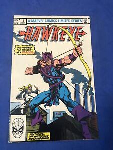 Hawkeye #1 Origin of Hawkeye 1st meeting of Hawkeye Mockingbird Marvel 1983 VF