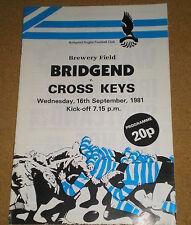 1981 Bridgend/Cross Keys programme