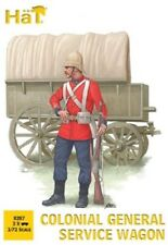 Hat 1/72 Colonial General Service Wagon (3 Sets: Wagon, 2 Horses & 2 Fi  HAT8287