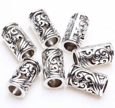 30 Tibetan Silver Hollow Flower Tube Spacer Bead Charm Jewelry Finding 8X5mm DIY