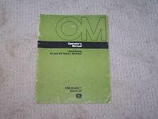 John Deere 41 & 48 Rotary Mowers  Operators Manual  Used  B5