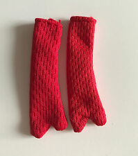 Lots Of dress / accessories For Barbie Dolls -12 Pairs (24Pcs) Gloves - Red