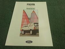 1988 FORD FIESTA 1.4 OLYMPUS SPORT Special Edition - UK Brochure - FA845 - MINT
