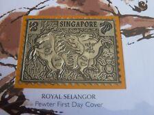 Singapur Sternzeichen serie Jahr der das Pferd zinn barren abdeckung