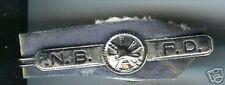 N.B.F.D.  old obsolete tie bar  silverplated