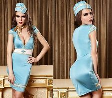 New Women Sexy Stewardess Uniforms Halloween Costumes Party Cosplay Fancy Dress