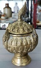 Late 19th Century Thai Buddhist Gilt Bronze Khan Nam Montr Holy Water Bowl