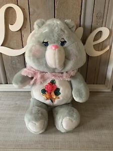 "Grams Care Bear Plush Kenner 1983 Grandma Stuffed Teddy with Scarf Vintage 15"""