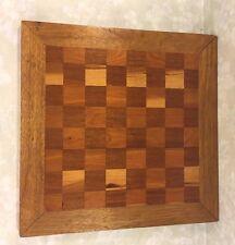 Vintage Inlaid Wood Chess/Checker Board Felt Bottom