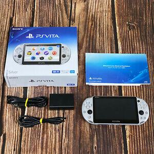 Sony PlayStation PS Vita Slim Silver PCH-2000 ZA25 Game Console