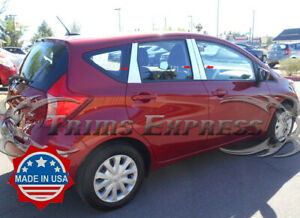 fit:13-19 Nissan Versa Note Hatchback 6Pc Chrome Pillar Post Stainless Trim