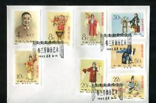 P.R.China 1962 Mei Lan Fang  NO PERFORATION  FDC С6 size- nice reprint #8