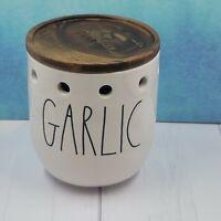 "Rae Dunn Artisan Collection ""Garlic"" Garlic Cellar Storage With Wood Lid LL"