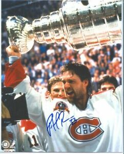 Signed Patrick Roy Montreal Canadiens Photo Cup 2