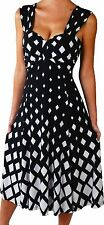 YD3 Funfash Plus Size Dress Black White New Empire Waist Cocktail Dress 2X 22 24