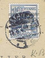 Bizone/Band-/Netzaufdruck, Mi. 40I K, kopfstehender Aufdruck. EF, PK Aachen