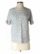 GAP Grey Gray Leopard Short Sleeve Sweatshirt Small