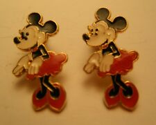 MINNIE MOUSE EARRINGS Pierced Micky Walt Disney Land Magic Kingdom Steel NEW