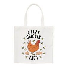 Crazy Chicken Lady Stars Small Tote Bag - Funny Animal Pet Shoulder