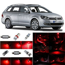 11pcs Brilliant Red LED Inteiror Light Package Fit For 2010-2013 VW Golf GTI MK6