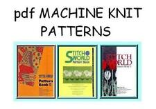 Brother Stitchworld Electronic Knitting Machine Pattern Books plus DAK on CD