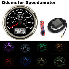 85mm Car GPS Speedometer Gauge 8 Color Backlight 0-80MPH LCD Speed Odometer KM/H