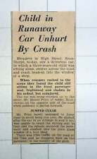 1939 Mr Daniel Price Ashby Scunthorpe Runaway Car Child Unhurt