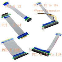 PCI-E Express PCI-E 1X/4X/16X to 16X Extender Riser Card Extension Cable Adapter