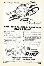 W0314 Orologio TISSOT Sideral - Pubblicità 1953 - Advertising
