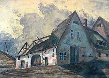 KLAUS DRECHSLER - Verfallener Bauernhof - Farbalgrafie 2004