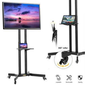 30-70'' Adjustable Mobile TV Stand Rolling TV Cart LCD LED Plasma Flat Screen
