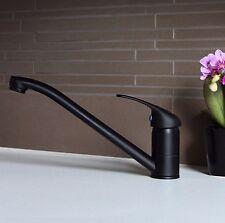 Black Traditional Modern Single Lever Kitchen Sink Basin Mixer Tap - (604B)