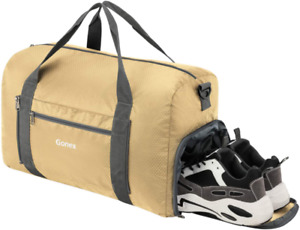 Gonex Foldable Travel Duffel Bag Sports Duffle Bag with Shoe Compartment for Boa