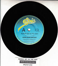 "MIAMI SOUND MACHINE  Words Get In The Way GLORIA ESTEFAN  7"" 45 rpm vinyl record"