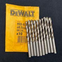 10 DEWALT DT5387 9.5mm Hss-G Trapano Punte. Metallo, Acciaio, Alluminio, Legno