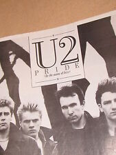 U2 SMASH HITS MAG PAGE SEPT 1984  27 x 22 CM AD FOR PRIDE (IN THE NAME OF LOVE)