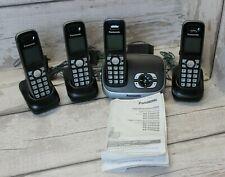 Panasonic KX-TG6521E Cordless 4 QUAD Phone system telephone