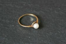 Vintage 9ct Yellow Gold Ladies Single Pearl Solitaire Ring 9k 9 Ct Carat