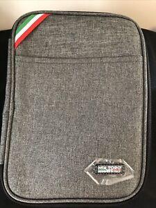 Mia Toro Zip Around Go Bag Carrying Case Electronics Tech Holder USB Storage