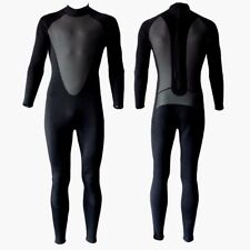 3/2mm Wetsuit Mens Size Large Full Body Back Zip 3/2 3 2 mm Black Neoprene New