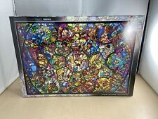 1000 Piece Jigsaw Puzzle Disney All Star Stained Glass  Stained Art