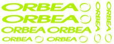 6 pegatinas de vinilo Amarillo fluorescente Orbea  para bicicleta,  no 595