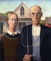Grant Wood - American Gothic House, 1930, Museum Art Poster, Canvas Print