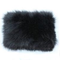 Women Real Farm Rex Rabbit Fur Scarf Shawl Neck Collar Luxury Retro Scarf Wrap