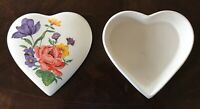 Jewelry Box Vintage Perugina Ceramic Trinket Large Heart Container Dish Holiday