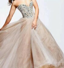 Sherri Hill dress 1434 size 2 blush nude champagne rhinestone prom dress