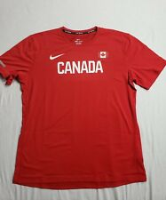 Nike Pro Elite Mens Warm up shirt Team Canada Size Large Track and Field Oregon