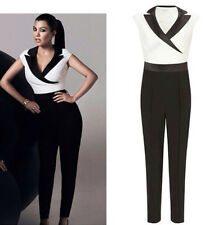 Lipsy Black White Size 8 Jumpsuit Tuxedo Tailored  RP£75 Dress Party Kardashian